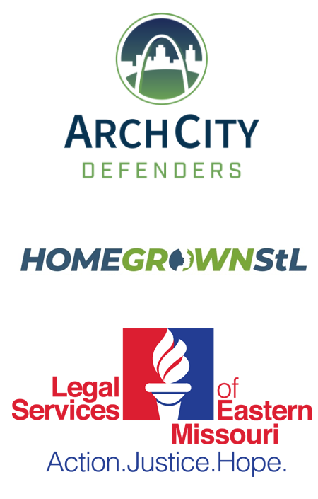 Arch City, Home Grown STL and Legal Services of Eastern Missouri logos